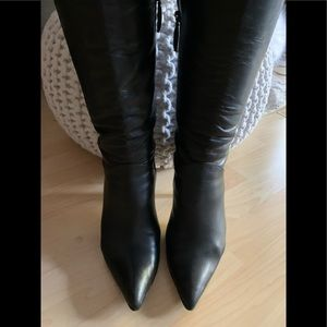 Via Spifa leather knee high boots
